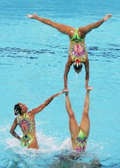 Synchronized Swimming at the YMCA Aquatic Center on I-Drive!!  Check it out http://ymcacentralflorida.com/