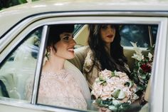 Beautiful vintage bride with fabric bouquet by The Elephant´s Journey