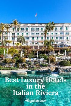 The Italian Riviera has been a travel destination for centuries. Many of its finest hotels -- a 1600s palace, a historic hillside villa, a turn-of-the-last-century resort that attracted Rita Hayworth and Ernest Hemingway -- splendidly capture the region's age-old allure. Take a look at the best luxury hotels in the Italian Riviera. #Italy #wanderlust #hotels #Riviera #travel #TravelTips