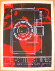 2007 The White Stripes - Seattle II Concert Poster by Rob Jones