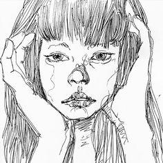 #illust #illustration #fashion #fashionillustration #sketch #drawing #art #pen #monochrome #girl #black #white #portrait