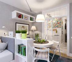 Дизайнерский интерьер крошечной квартиры-студии