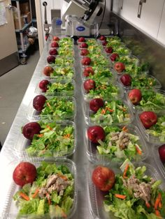 I would send money everyday if Maddies lunches looked like this!! How fresh!!  Grab-n-Go Salads, from Solvang, California.