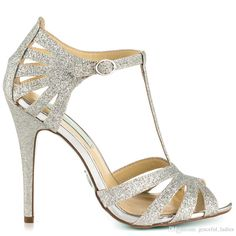 Silver Wedding shoes Silver Glitter Wedding Shoes Stiletto Open Toe Made-to-order Women Sandals T-straps Handmade Evening Party Dancing Shoes Custom Size SILVER Bridal Shoes Silver Bridal Shoes, Glitter Wedding Shoes, Silver Sandals, Silver Heels, Silver Glitter, Glitter Shoes, Sparkly High Heels, Prom Heels, T Strap Heels