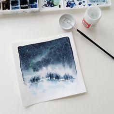 "Gefällt 734 Mal, 26 Kommentare - @tangledpen auf Instagram: ""Stars added. . I use Dr. Ph Martin's bleed proof white for small details, like those stars, on my…"""