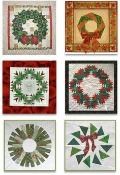 Quilt Inspiration: Free pattern day! Christmas wreath quilts