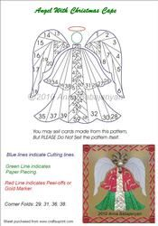View Angel With Christmas Cape (Iris Folding Pattern) Details Paper Pieced Quilt Patterns, Card Patterns, Paper Piecing, Pattern Paper, Paper Patterns, Iris Folding Templates, Iris Paper Folding, Iris Folding Pattern, Paper Cards