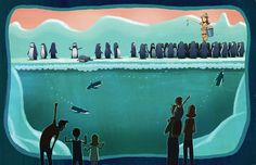 Dan Santat - Always lots of Heines at the Zoo Dan Santat, Penguin Day, Landscape Background, Children's Book Illustration, Fish Tank, Childrens Books, Illustrators, Book Art, World