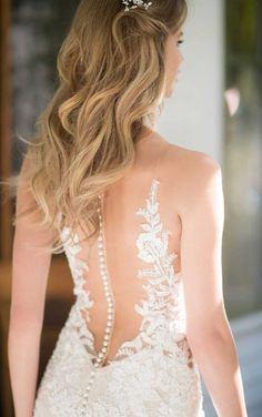 967 Breathtaking Garden Lace Wedding Dress by Martina Liana