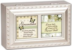 Cottage Garden Grandma You Have Champagne Silver Petite Music Jewelry Box Plays Light Up My Life ** Click image for more details.