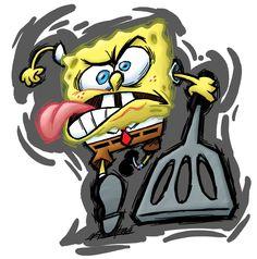 Uh oh angry Spongebob!