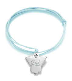 The perfect gift for a First Holy Communion! Customize this present with the name of the child and the date of the event #lilou #bracelet #firstcommunion #angel #present #kid