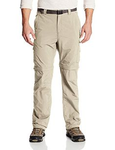 Columbia Mens Silver Ridge Convertible Pant Fossil 42 x 34 * Click image for more details. (This is an affiliate link) #CampingHikingClothes