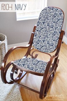 Bentwood Rocking Chair Makeover. Maybe Do This With A Caned Rocker?