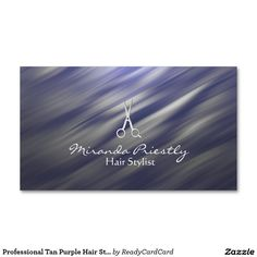 Shop Professional Tan Purple Hair Stylist Business Card created by ReadyCardCard. Hairstylist Business Cards, Hair St, Custom Business Cards, Purple Hair, Prints, Big, Lilac Hair, Violet Hair