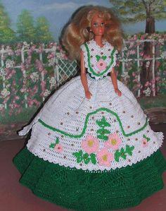 Crochet Fashion Doll Barbie Pattern- #84 SOUTHERN LADY #2