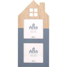 WOODEN HOUSE SHAPED PICTURE FRAME