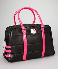 1a54cf2a3364 Black Quilted Puffs Hello Kitty Duffel by Hello Kitty on  zulily Hello  Kitty Purse