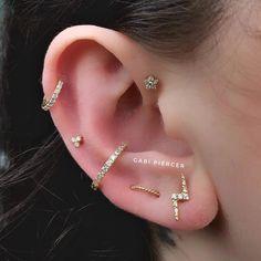 Small Silver Hoop Earrings, A Set of Sterling Silver Hoop Earrings, Multiple Piercing Hoops, - Custom Jewelry Ideas Ear Peircings, Cute Ear Piercings, Body Piercings, Piercing Tattoo, Helix Piercings, Bar Stud Earrings, Rose Gold Earrings, Emerald Earrings, Crystal Earrings