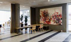 Lounge area - Bühlmann Airport Hotel interior design in Aalborg, Denmark - by Danielsen Spaceplanning