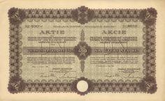 PRAŽSKÁ NEUSIEDELSKÁ, spojené továrny na papír, celulosu a dřevovinu akc. spol. (PRAGER NEUSIEDLER Vereinigte Papier-Zellulose- und Holzstoff- Fabriken AG.). Akcie na 400 Kč. Praha, 1926.