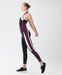 Purple block jumpsuit