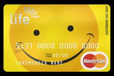Credit card design with matt laminate effect.