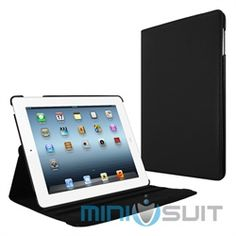 Revolve your outlook for your new Appple iPad 2 or 3 (3rd Gen) touch screen tablet with MiniSuit's latest accessory: Rotating 2-in-1 Multi-Angle Folio Stand Case Cover. Sleek and professional book-style case is made of premium PU leather, with a plu
