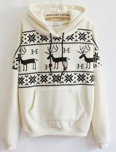 Casual and Comfy Dear Print Hoodie