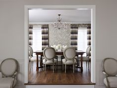 Attrayant City Townhome Traditional Dining Room By Kim Scodro Interiors Of Chicago.  Dining Chairs By Vanguard