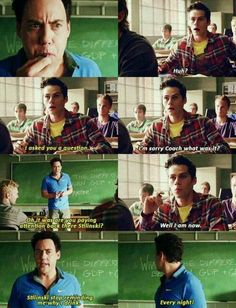 So Stiles is the reason he ends up in rehab or just high school teenagers in general?