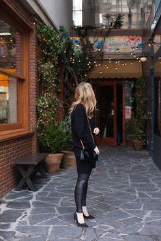 Sweater Dress Over Leggings