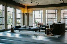 Marmol Radziner Designs A Loft in Los Angeles' Arts District - Design Milk Loft Estilo Industrial, Industrial Interiors, Modern Industrial, Modern Interiors, Farmhouse Side Table, Living Spaces, Living Room, Loft Design, Small Apartments
