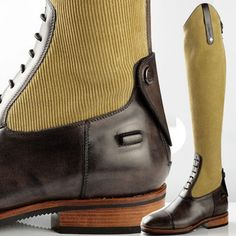 Taking the corduroy trend a bit to the extreme maybe? But looking pretty funky doing it - De Niro custom made riding boot.