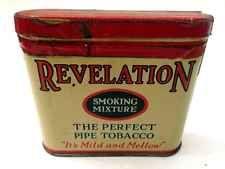 """Vintage Tobacco Tin: Revolution Philip Morris Pipe Old Tobacciana 3"""" X 1"""" NY"""