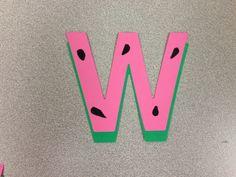 Letter W is for Watermelon Craft visit www.letsgetreadyforkindergarten.com