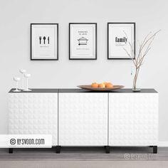 3 Piece Wall Art, Do It Yourself Furniture, Family Print, Nordic Design, Kitchen Prints, Kitchen Decor, Minimal Design, Fun To Be One, Minimalism