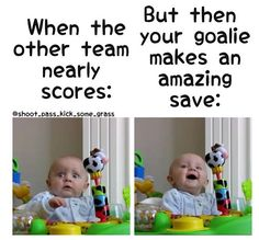 Lol. So true! #goalieswag!!! Download the ScoreStream app to follow your favorite teams, score games, and post photos. Post game updates via Twitter, Facebook, SMS or via the ScoreStream website to share with friends and family! Follow us https://www.facebook.com/scorestream/timeline and https://twitter.com/scorestream