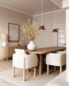 Dining Room Inspiration, Interior Design Inspiration, Home Decor Inspiration, Home Interior Design, Home Living Room, Living Room Decor, Esstisch Design, Interior Minimalista, Dream Home Design