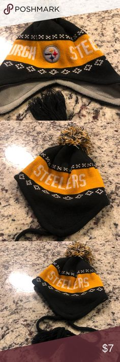 993829adf8c Pittsburgh Steelers Winter Hat OS This is an official NFL Team Apparel Pittsburgh  Steelers winter hat