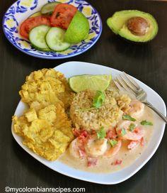 Camarones a la Criolla con Coco (Creole and Coconut Shrimp) My Colombian Recipes, Colombian Cuisine, Vegan Gains, Good Food, Yummy Food, Peruvian Recipes, Coconut Shrimp, Holiday Dinner, Shrimp Recipes
