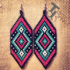 Beaded earrings - Be sure to check out Twisted Rank Beadwork on Facebook!