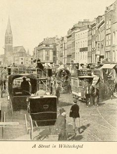 A Street in Whitechapel London Pictures, London Photos, Old Pictures, Old Photos, Victorian London, Vintage London, Old London, London History, British History