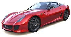 Ferrari 599 3d model, a grand tourer. High Detailed exterior and detailed interior, good for closeup renders. Tri faced high resolution mesh, highly detailed 3d model of Ferrari 599 with Vray materials and textures. Ferrari, Mesh, Exterior, 3d, Vehicles, Model, Scale Model, Car
