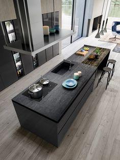 Cocina omicron 22 atelier casa armony cucine: cocinas de estilo por atelier casa s. Kitchen Room Design, Modern Kitchen Design, Home Decor Kitchen, Interior Design Kitchen, New Kitchen, Home Kitchens, Kitchen Ideas, Modern Kitchens, Kitchen Furniture