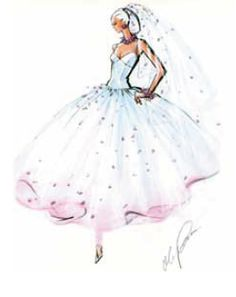 Known as a tea, dance or ballerina length skirt, the shorter skirt is a subtle departure from the traditional floor length gown. A tea length skirt evokes an ingenue-like sensibility, and when paired with a ball gown silhouette, achieves a glamorous, debutante or ballerina look.