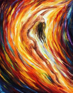 Nude Women Fine Art Sexual Decor Painting On Canvas By Leonid Afremov - Gold Falls