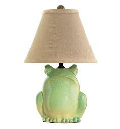 Ribbit, ribbit. VIETRI Green Frog Lamp