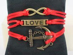 Infinity bracelet,anchor bracelet,leather friendship bracelet,cross bracelet,charm wrap bracelet,love bracelet,karma bracelet Birthday gift by Diy007, $4.99