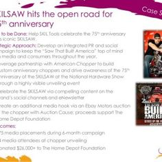 SKILSAW hits the open road for 75th anniversary Job to be Done: Help SKIL Tools celebrate the 75th anniversary of its iconic SKILSAW. Strategic Approach: De. http://slidehot.com/resources/case-study-skil-tools-celebrates-75th-anniversary-of-iconic-skilsaw.16351/